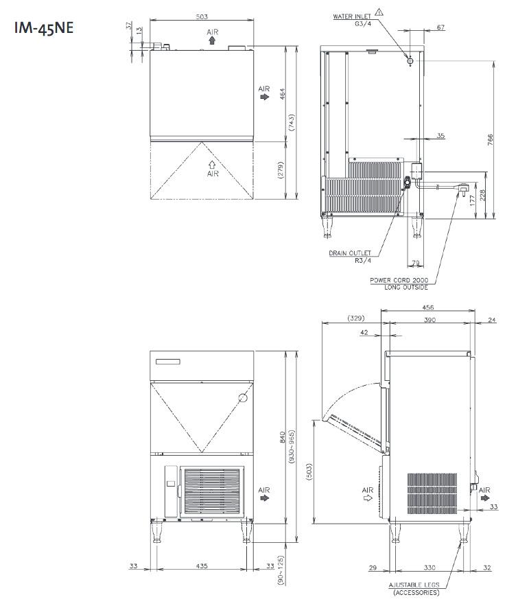 Hoshizaki IM45 NE Ice Machine